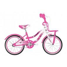 Volare Lovely Kinderfiets - Meisjes - 20 inch - Roze Wit - Twee Handremmen