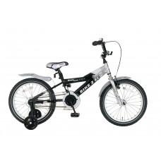 Popal Bike 2 Fly 18 inch Zilver Zwart
