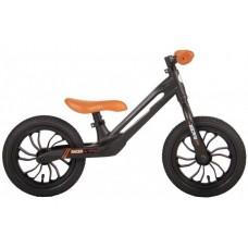 QPlay Racer Loopfiets - Jongens en Meisjes - Magnesium - 12 inch - Zwart Bruin