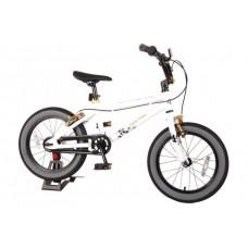 Volare Cool Rider Kinderfiets - Jongens - 16 inch - Wit - twee handremmen - 95% afgemonteerd