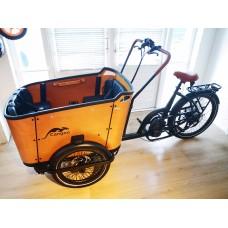 Popal elektrische bakfiets Cangoo Buckle 7V Zwart-Naturel