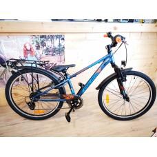 Volare Cross Kinderfiets - Jongens - 24 inch - Donkerblauw - 6 versnellingen - bell voor de winkelvoorraad