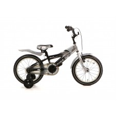 Popal Bike 2 Fly 16 inch Zilver Zwart