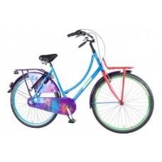 SALUTONI Urban Transport fiets Graffiti 28 inch 56 cm Shimano Nexus 3-speed 95% afgemonteerd