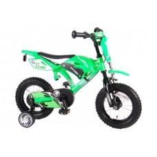 Volare Motorbike 12 inch jongensfiets groen met twee handremmen